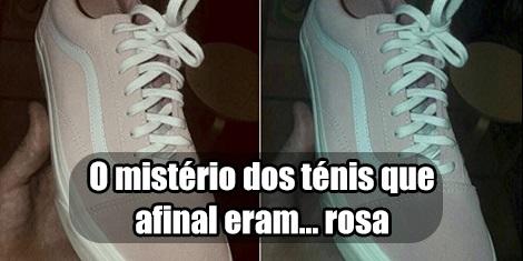 Tênis cinza ou rosa? Saiba qual é a verdade cor da foto
